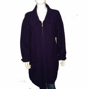 Lane Bryant sz18/20 XL Long Wool Cardigan Sweater